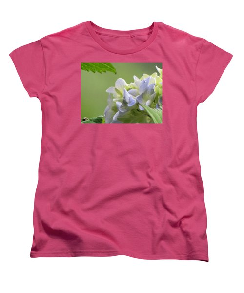 Women's T-Shirt (Standard Cut) featuring the photograph Hydrangea Blossom by Katie Wing Vigil