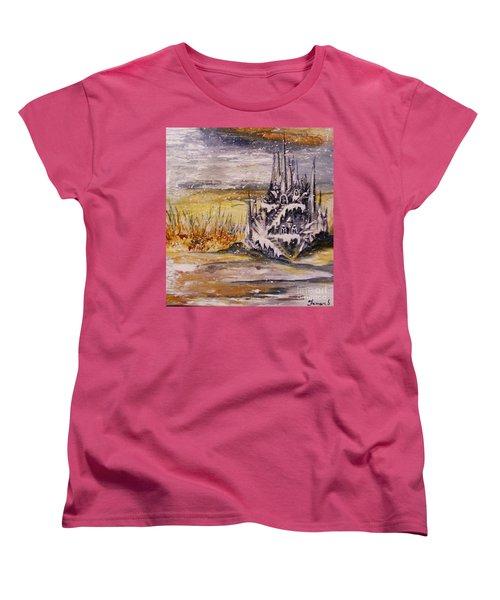 Ice Castle Women's T-Shirt (Standard Cut) by Karen  Ferrand Carroll