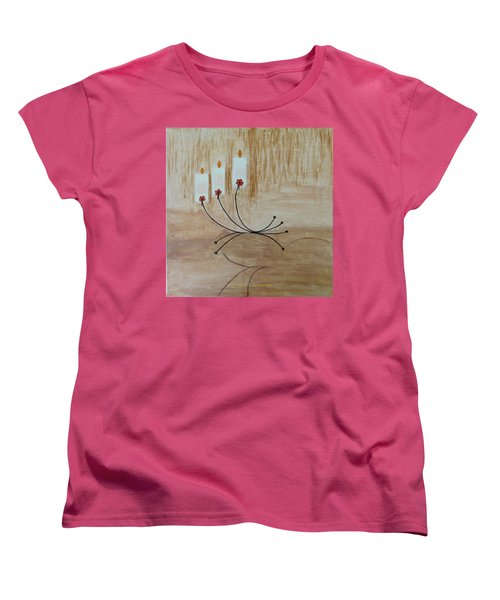 Women's T-Shirt (Standard Cut) featuring the painting Illumination by Sonali Gangane
