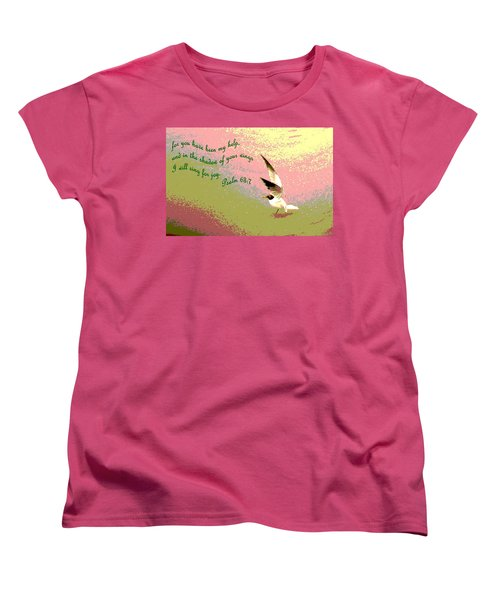 In The Shadow Of Your Wings Women's T-Shirt (Standard Cut) by Pamela Hyde Wilson
