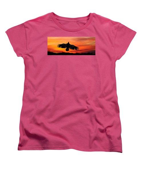Women's T-Shirt (Standard Cut) featuring the photograph Juvenile Sunset  by Randall Branham