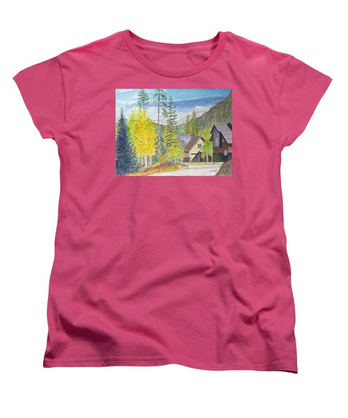 Women's T-Shirt (Standard Cut) featuring the painting Keystone Co by Carol Flagg