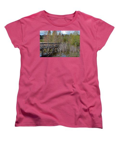 Lake Bonny Boardwalk Women's T-Shirt (Standard Cut) by Carol  Bradley