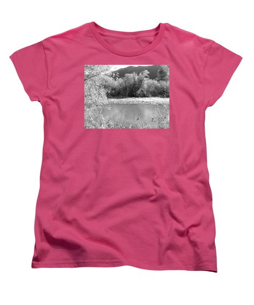 Lakeside Mountain View Women's T-Shirt (Standard Cut) by Kathleen Grace
