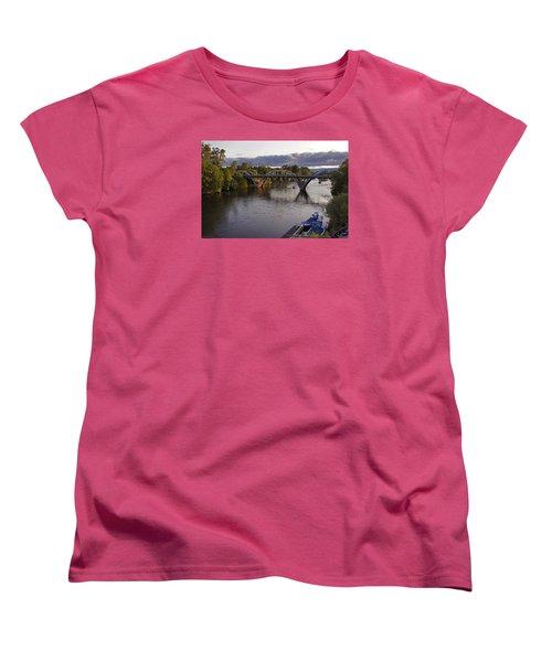 Last Light On Caveman Bridge Women's T-Shirt (Standard Cut) by Mick Anderson