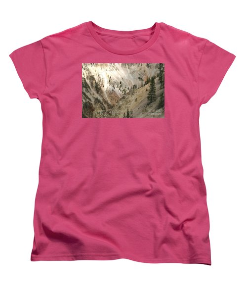 Light And Shadows In The Grand Canyon In Yellowstone Women's T-Shirt (Standard Cut) by Living Color Photography Lorraine Lynch