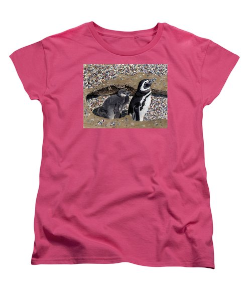 Looking Out For You - Penguins Women's T-Shirt (Standard Cut) by Patricia Barmatz