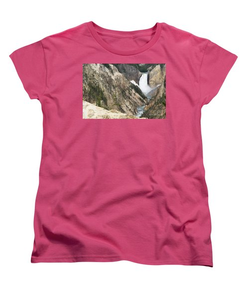 Lower Falls Another View Women's T-Shirt (Standard Cut) by Living Color Photography Lorraine Lynch