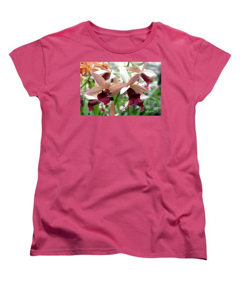 Women's T-Shirt (Standard Cut) featuring the photograph Maroon Bloom by Debbie Hart