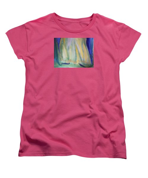 Women's T-Shirt (Standard Cut) featuring the painting Medieval Dance by Judith Desrosiers