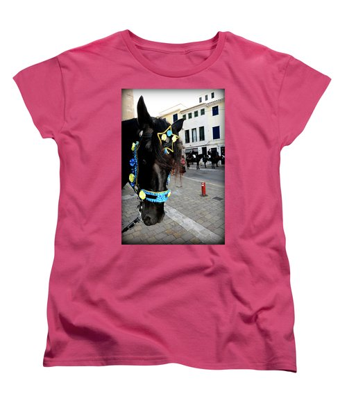 Women's T-Shirt (Standard Cut) featuring the photograph Menorca Horse 1 by Pedro Cardona