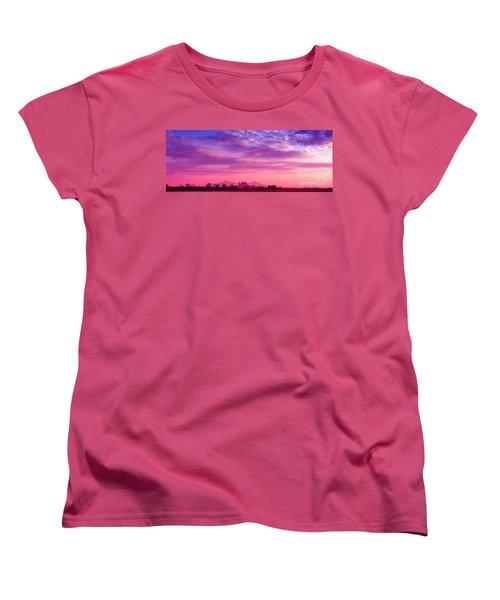 Mississippi River Bridge At Twilight Women's T-Shirt (Standard Cut) by Judi Bagwell