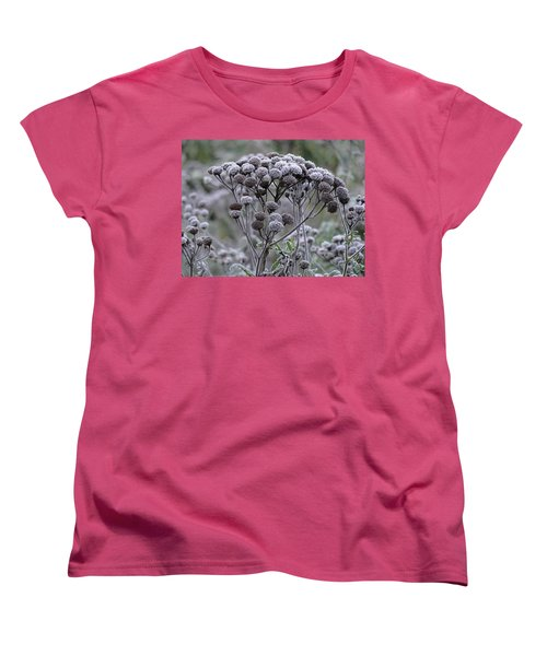 Women's T-Shirt (Standard Cut) featuring the photograph Morning Frost by Tiffany Erdman