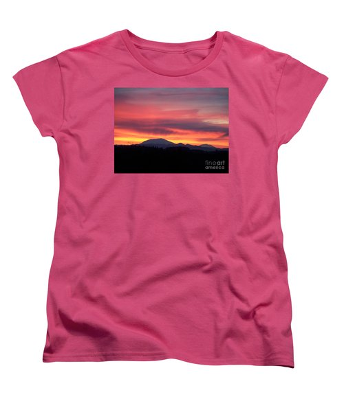 Women's T-Shirt (Standard Cut) featuring the photograph Morning Glow by Chalet Roome-Rigdon