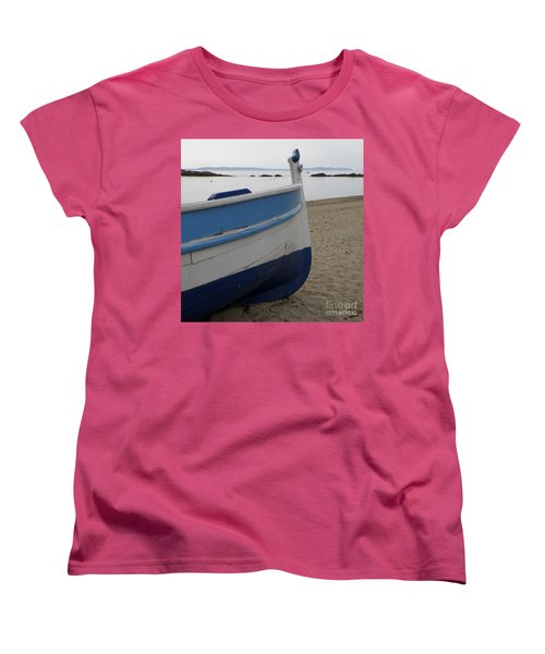 Women's T-Shirt (Standard Cut) featuring the photograph Morning Seascape by Lainie Wrightson