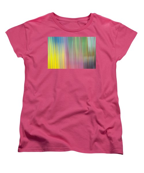 Moving Colors Women's T-Shirt (Standard Cut) by Susan Stone