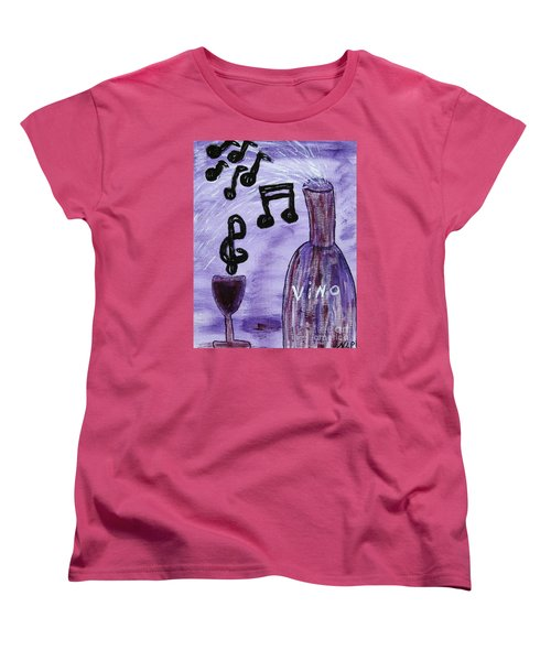 Music In My Glass Women's T-Shirt (Standard Cut)