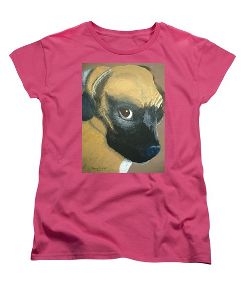 Women's T-Shirt (Standard Cut) featuring the painting My Name Is Attitude by Norm Starks