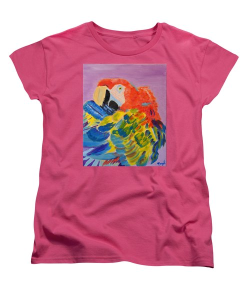 Women's T-Shirt (Standard Cut) featuring the painting Nature's Painting by Meryl Goudey