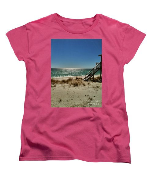 Women's T-Shirt (Standard Cut) featuring the photograph Navarre Beach by Janice Spivey