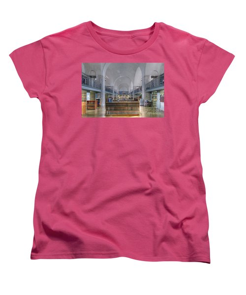 Women's T-Shirt (Standard Cut) featuring the photograph Nebraska State Capitol Library by Art Whitton