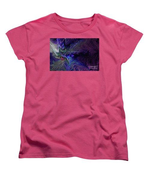 Women's T-Shirt (Standard Cut) featuring the digital art Neon Zebra by Greg Moores