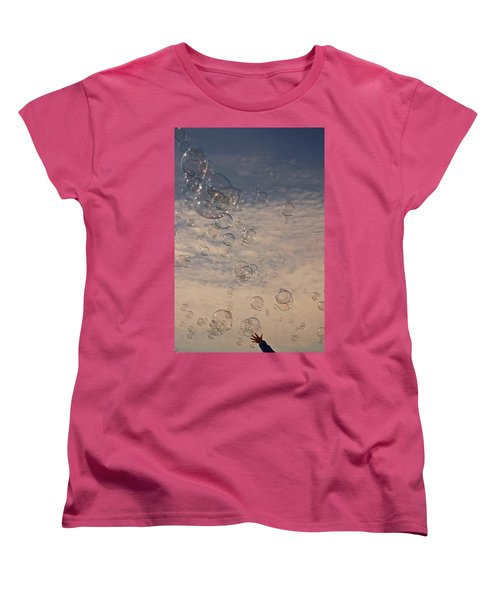 Women's T-Shirt (Standard Cut) featuring the photograph Never Give Up by Jeannette Hunt