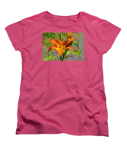 Orange Day Lily Women's T-Shirt (Standard Cut) by Tikvah's Hope