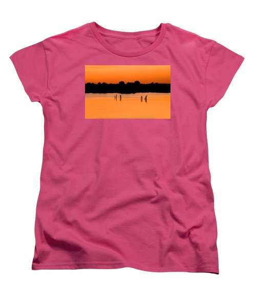 Orange Sunset Florida Women's T-Shirt (Standard Cut) by Rich Franco
