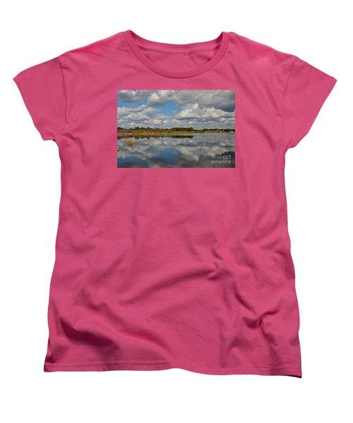 Partly Cloudy Women's T-Shirt (Standard Cut) by Carol  Bradley
