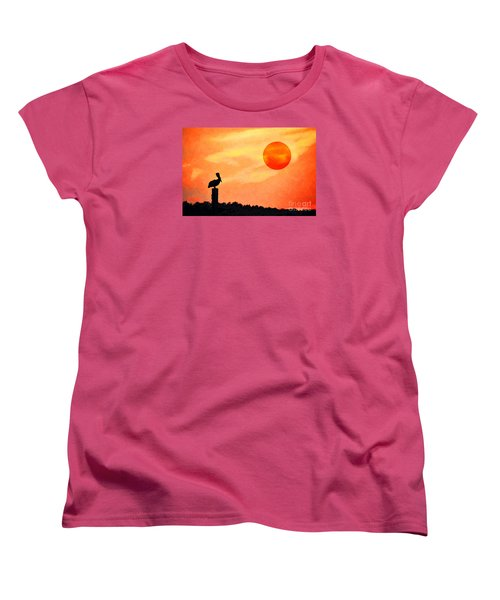 Women's T-Shirt (Standard Cut) featuring the photograph Pelican During Hot Day by Dan Friend