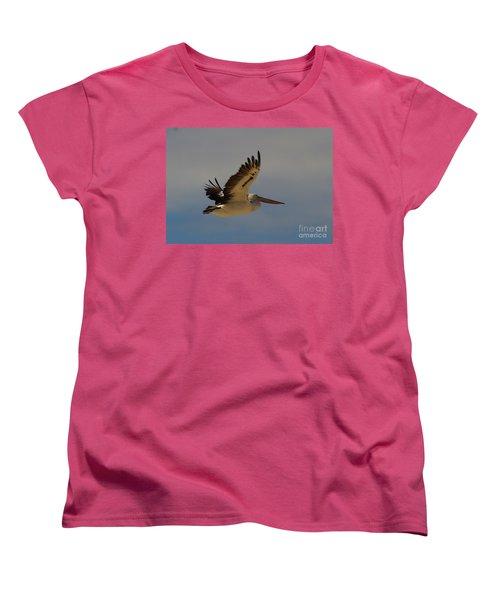 Women's T-Shirt (Standard Cut) featuring the photograph Pelican In Flight 5 by Blair Stuart