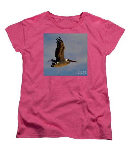 Women's T-Shirt (Standard Cut) featuring the photograph Pelican In Flight by Blair Stuart