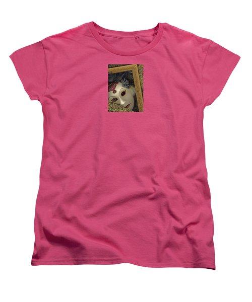 Women's T-Shirt (Standard Cut) featuring the mixed media Pensive by Nareeta Martin