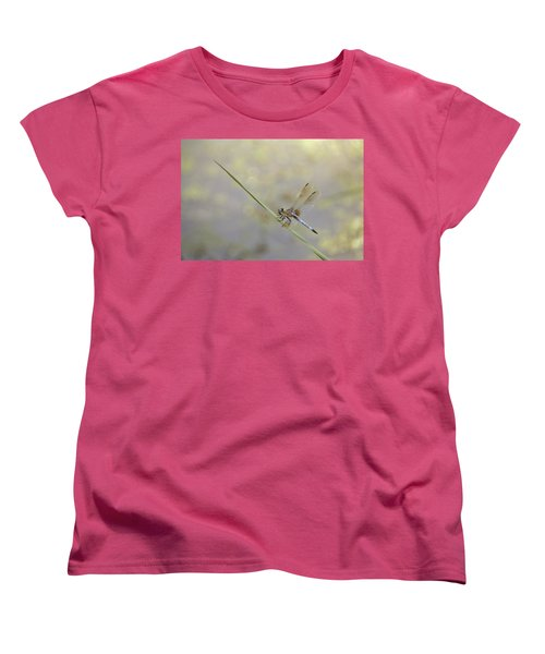 Women's T-Shirt (Standard Cut) featuring the photograph Perched Dragon In Sepia by JD Grimes