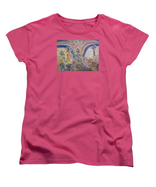 Women's T-Shirt (Standard Cut) featuring the painting Persian Fairy Entrance by Judith Desrosiers