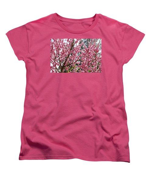 Women's T-Shirt (Standard Cut) featuring the photograph Pink Flood by Fotosas Photography