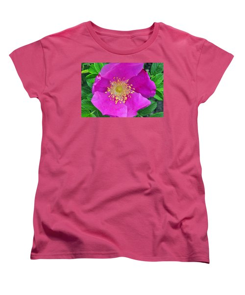 Women's T-Shirt (Standard Cut) featuring the photograph Pink Portulaca by Tikvah's Hope