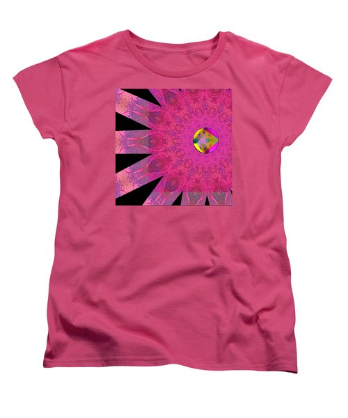 Pink Ribbon Of Hope Women's T-Shirt (Standard Cut) by Alec Drake