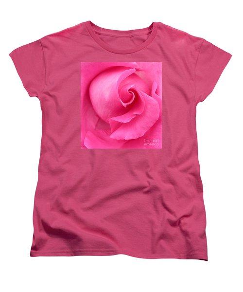 Pink Rose Women's T-Shirt (Standard Cut) by Mark Gilman