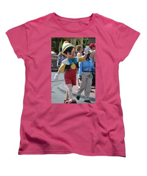 Pinocchio Women's T-Shirt (Standard Cut) by Bonnie Myszka
