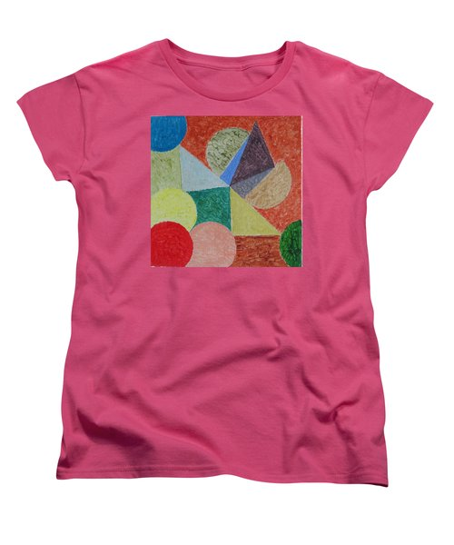 Women's T-Shirt (Standard Cut) featuring the painting Polychrome by Sonali Gangane