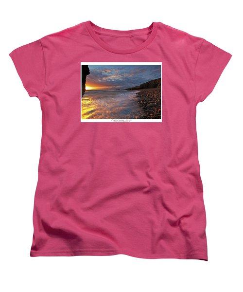 Women's T-Shirt (Standard Cut) featuring the photograph Porth Swtan Cove by Beverly Cash