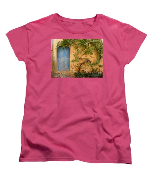 Women's T-Shirt (Standard Cut) featuring the photograph Provence Door 5 by Lainie Wrightson