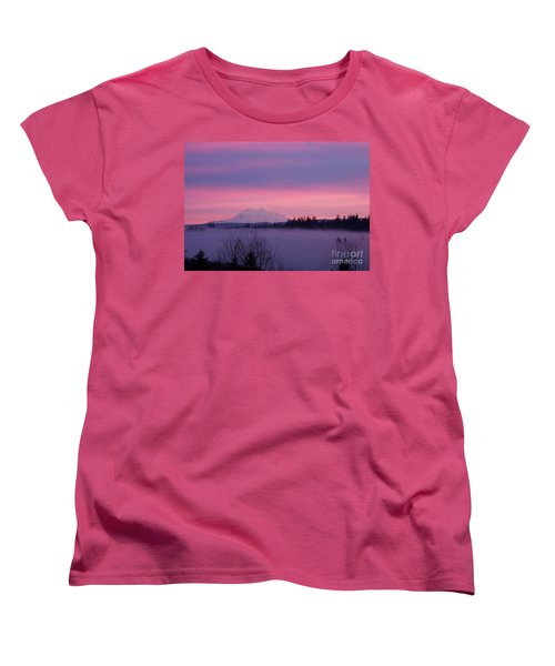 Women's T-Shirt (Standard Cut) featuring the photograph Purple Mountain Majesty by Chalet Roome-Rigdon