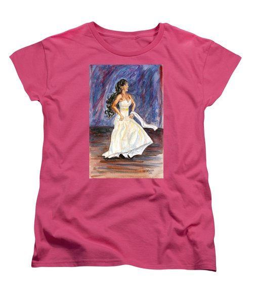 Women's T-Shirt (Standard Cut) featuring the painting Rachel by Clara Sue Beym