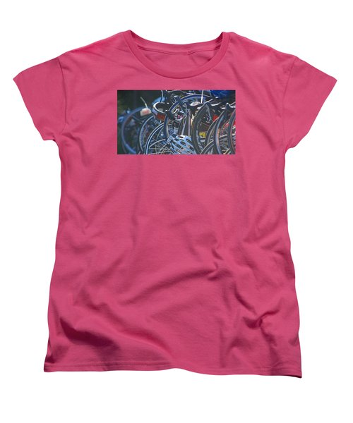 Racing Bikes Women's T-Shirt (Standard Cut) by Sarah McKoy