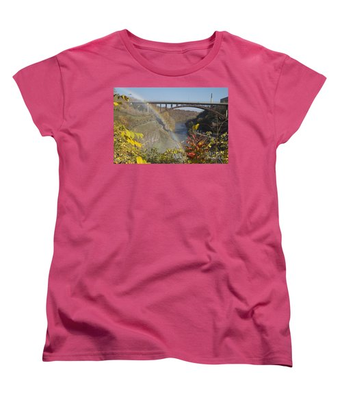Women's T-Shirt (Standard Cut) featuring the photograph Rainbow At Lower Falls by William Norton