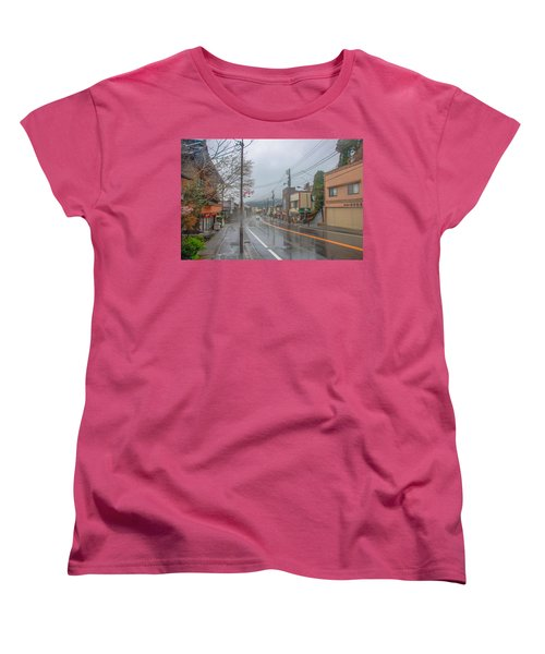 Rainy Day Nikko Women's T-Shirt (Standard Cut) by Jonah  Anderson