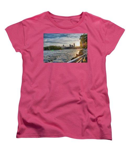 Women's T-Shirt (Standard Cut) featuring the photograph Rapids Sunset by Michael Frank Jr